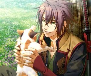 anime, hakuouki, and cat image