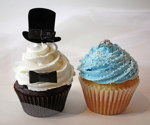 cupcake, wedding, and food image