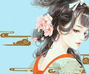 beautiful, cherry blossom, and manhwa image