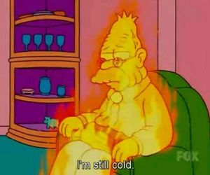 cold, the simpsons, and simpsons image