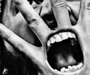 black and white, grunge, and photoshop image