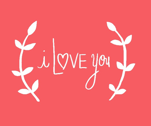 coral, I Love You, and cute image