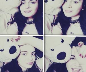 bear, white, and girl image