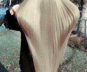 hair, long hair, and blonde image