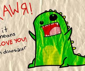 dinosaur, love, and rawr image