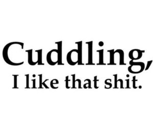love, cuddling, and quotes image