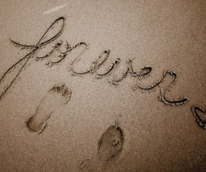 forever, love, and sand image