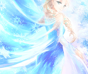 frozen, elsa, and anime image