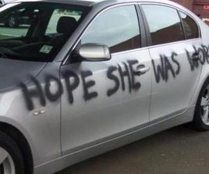 car, cheating, and funny image