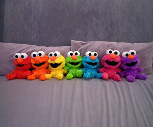 elmo, colorful, and rainbow image