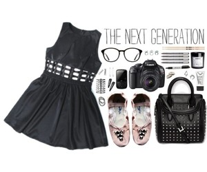 ballet flats, black, and Polyvore image
