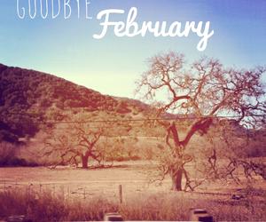 february and goodbye image
