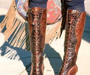 boho, fashion, and boots image