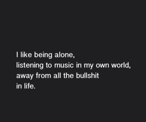 alone, life, and music image