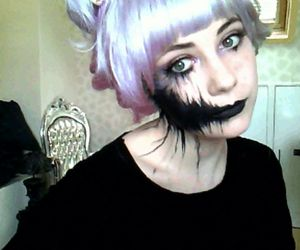 gif, makeup, and pastel goth image