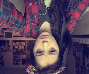 beautiful, eyes, and flannel image