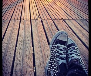 allstar, shoes, and studded converse image