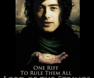 jimmy page, led zeppelin, and lord of the rings image