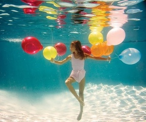 balloons, water, and pool image