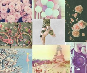 vintage, flowers, and paris image