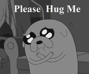 hug, JAKe, and adventure time image