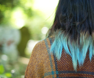blue, blue hair, and dip image