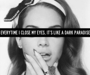 lana del rey, paradise, and dark image