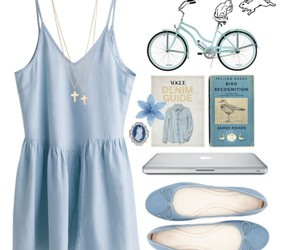 bow, dress, and Polyvore image