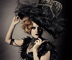 black, black lips, and corset image