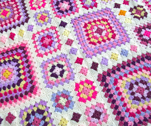 afghan, crochet, and granny square image