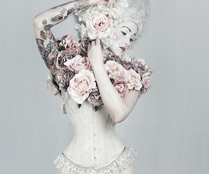 corset, marie antoinette, and tattoo image
