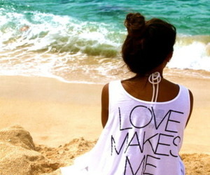 love, beach, and girl image