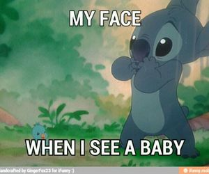 baby, stich, and face image