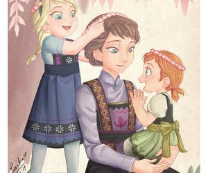 disney, elsa, and anna image