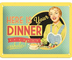 art, dinner, and girl image