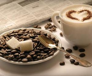 coffee, morning, and heart image
