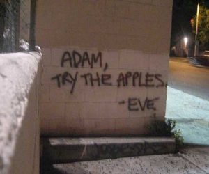 adam and eve, apples, and soft grunge image