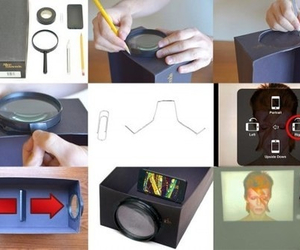 diy, iphone, and projector image
