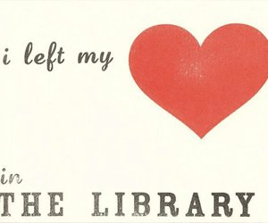 library, love, and books image