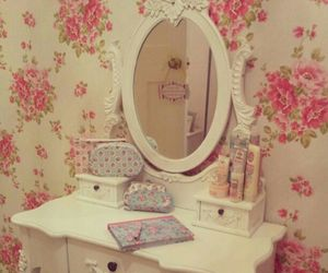 vintage, flowers, and interior image