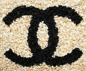 chanel, flowers, and popcorn image
