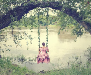 swing, girl, and dress image