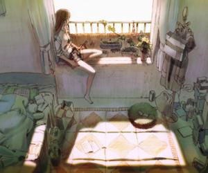 girl, anime, and room image