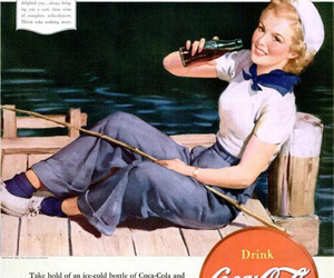 50s, sailor girl, and advertisement image