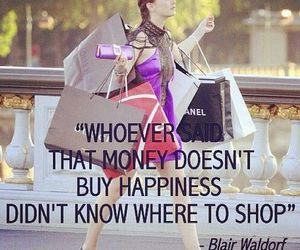 shopping, quotes, and blair waldorf image