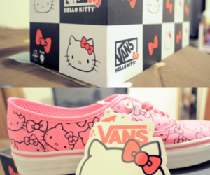 hello kitty, shoes, and vans image