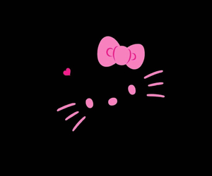 pink, black, and hello kitty image