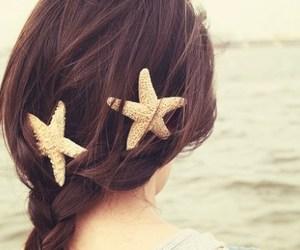 hair, girl, and starfish image