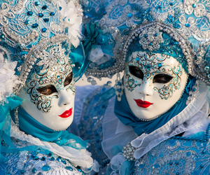 venice, italy, and mask image
