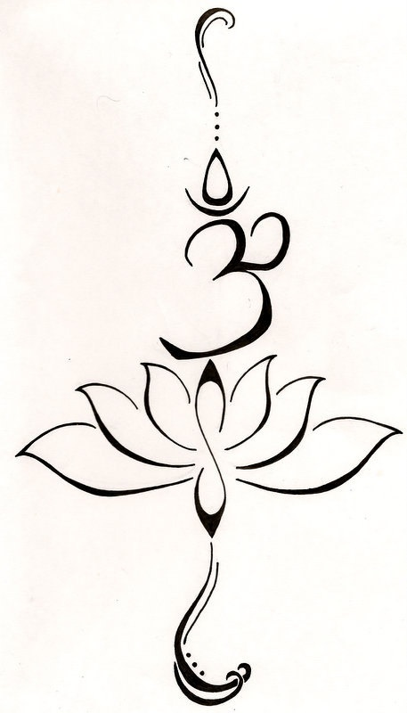 Buddha Om Lotus Tattoo Represents Overcoming A Difficult Past